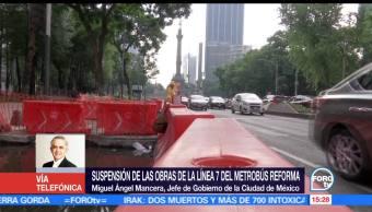 Miguel Ángel Mancera, jefe de gobierno de la CDMX, Metrobus, reforma