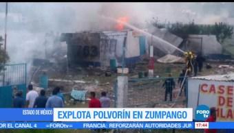 Explota, polvorín, Zumpango, Equipos de emergencia