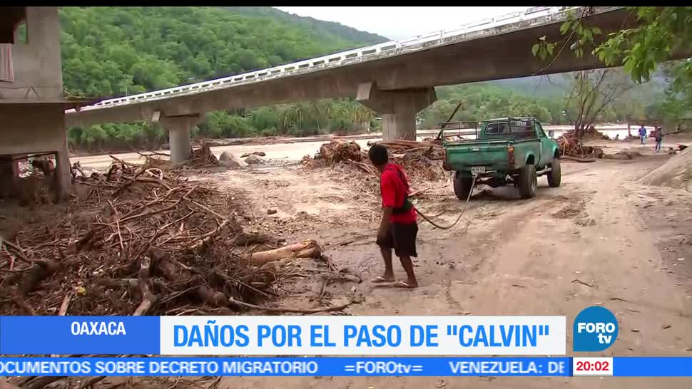 noticias, forotv, Comunidades incomunicadas, tras paso, Calvin, Oaxaca