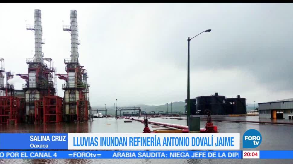 noticias, forotv, Fuertes lluvias, inundan, refinería, Oaxaca
