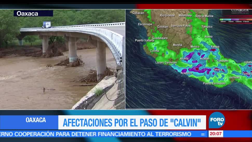 noticias, forotv, Afectaciones, tras paso, Calvin, Oaxaca