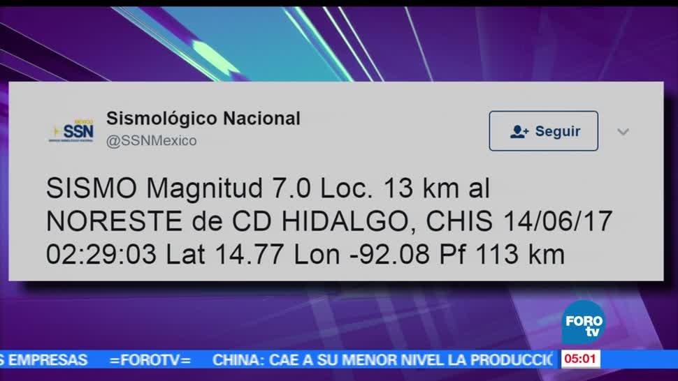 Centro de Alerta de Tsunamis, Tsunamis, costas de Chiapas, Guatemala, sismo
