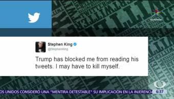 escritor Stephen King, Donald Trump, Twitter, mensajes de Trump