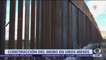 gobierno de Donald Trump, construcción del muro, muro fronterizo, 2018