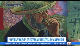 artistas, fotogramas pintados al óleo, cinta 'Loving Vincent' óleo