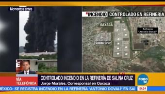 operativo, incendio, refinería de Salina Cruz, Oaxaca