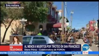 noticias, forotv, 6 muertos, tiroteo, San Francisco, centro de mensajería