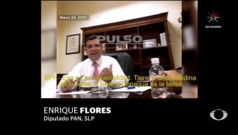 Diputado PAN, vincula, PRI, red corrupción, SLP, Enrique Flores
