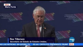 Centroamérica, seguridad, Rex Tillerson, Conferencia para la prosperidad, seguridad en Centroamérica