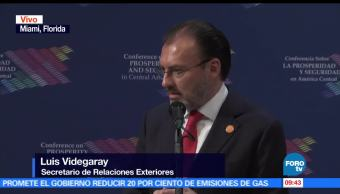 Miami, canciller mexicano, Luis Videgaray, Conferencia sobre Seguridad, Prosperidad de Centroamérica