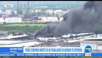 Pemex, muerte de trabajador, refinería de Salina Cruz, Oaxaca