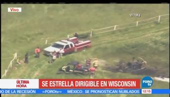 dirigible, Wisconsin, estado de salud, víctima