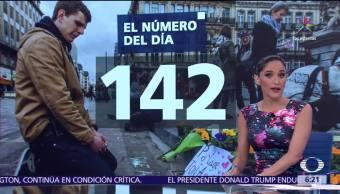 El número del día, 142, Durante 2016, atentados terroristas