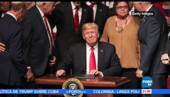 Trump, anuncia, cambios, políticas, hacia, Cuba