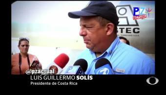 Presidente, Costa Rica, come, traga, avispa, durante entrevista