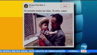 presidente de México, Enrique Peña Nieto, Día del Padre, papá