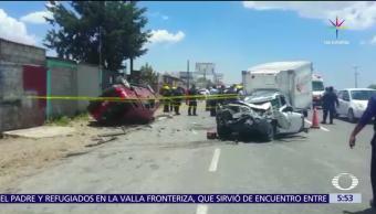 choque, carretera México-Pachuca, muertos, heridos, accidente