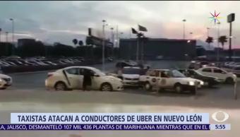 plaza comercial, La Fe, Apodaca, Nuevo León, taxistas, servicio de transporte