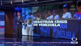 crisis en Venezuela, tema central, Organización de Estados Americanos, Cancún, Quintana Roo