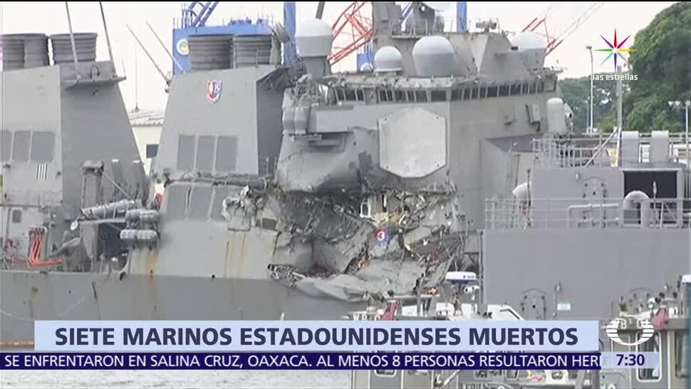 choque, buque filipino, carguero estadounidense, USS FITZGERALD, muertos