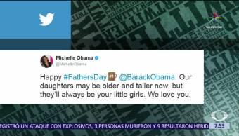 Michelle Obama, Melania Trump, esposos, Día del Padre