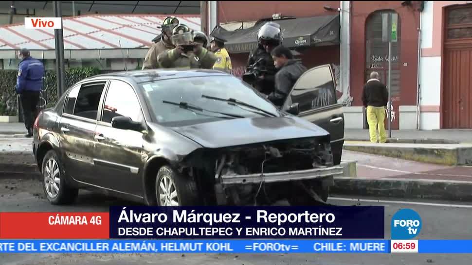 conductor, camellón, avenida Chapultepec, lesionados