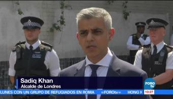 alcalde de Londres, Sadiq Khan, atropellamiento intencional, fieles musulmanes, Londres