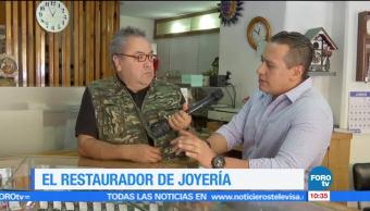 Enrique Muñoz, reportaje, trabajo, restaurador de joyería