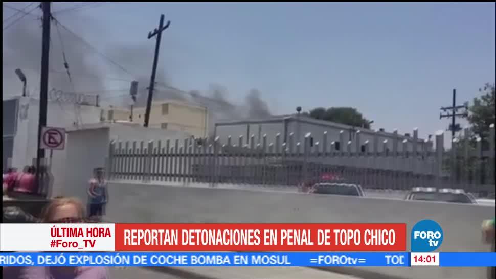 reportan, detonaciones, Penal de Topo Chico, Nuevo León