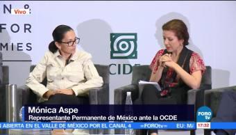 Mónica Aspe, representante permanente de México ante la OCDE, telecomunicaciones, Foro CIDE-LSE