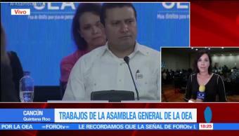 El canciller mexicano, Luis Videgaray, Venezuela, ruptura del orden democrático