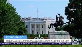expertos del Consejo, VIH-SIDA, Estados Unidos, presidente Donald Trump