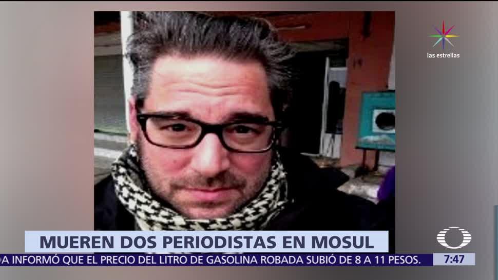 periodista francés, Muere periodista, Stephan Villeneuve, explosión en Mosul, Irak
