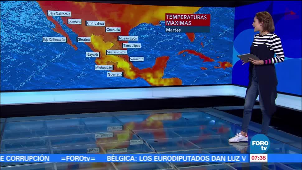 Canales de baja presión, centro-sur, Ciudad de México, temperatura
