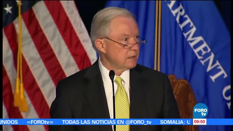 fiscal general de EU, Jeff Sessions, Cumbre sobre Reducción, Criminalidad, pandilleros, justicia