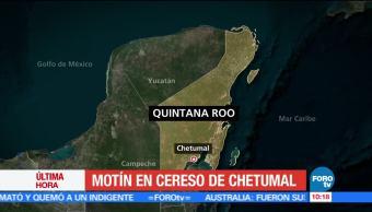 Policía Estatal, Cereso de Chetumal, Quintana Roo, motín