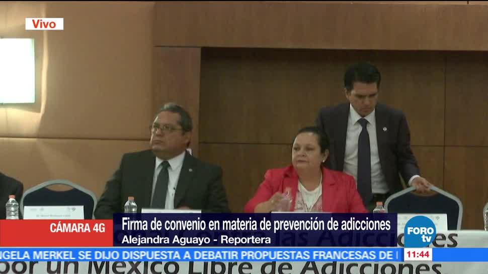 Comisión Nacional, Adicciones, Red Social, México Libre, convenio contra adicciones