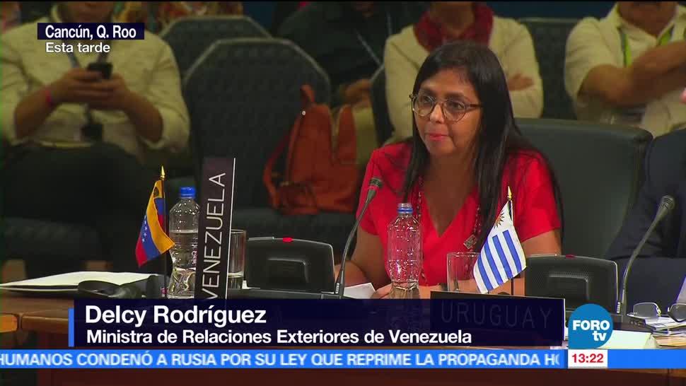 Delcy Rodríguez, exige respeto, Venezuela, ministra de Relaciones Exteriores de Venezuela