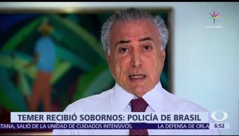 presidente Michel Temer, sobornos, empresa de productos cárnicos, Brasil