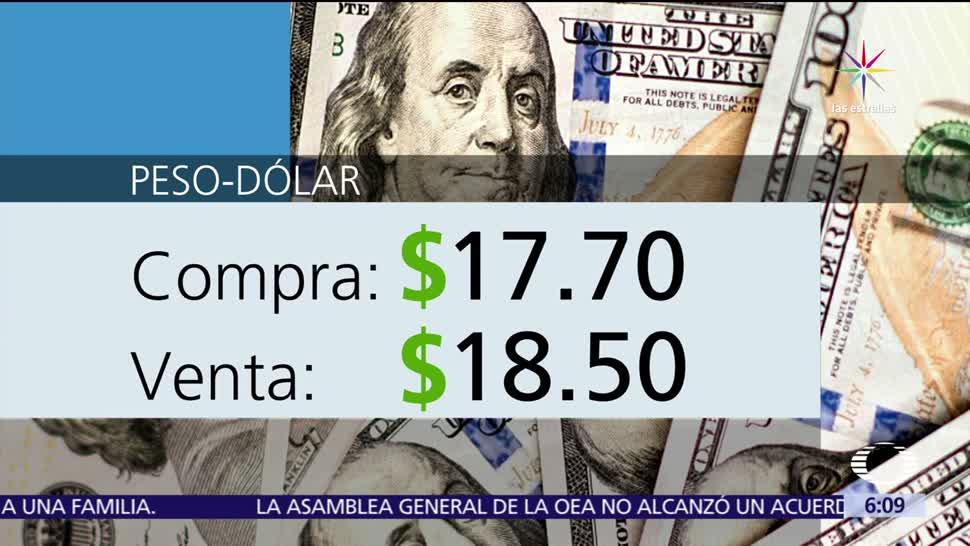 dólar, ventanillas bancarias, Ciudad de México, 17.70