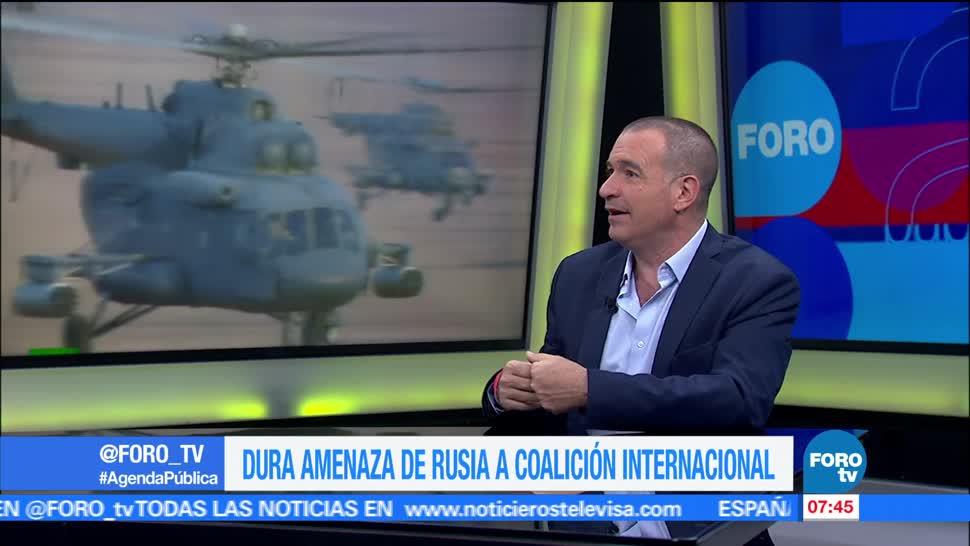 internacionalista Mauricio Meschoulam, Rusia, Estados Unidos, Siria