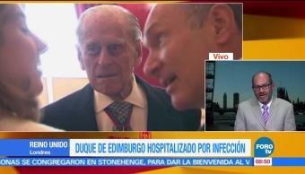 corresponsal Vytas Rudavicius, duque de Edimburgo, hospitalizado, infección