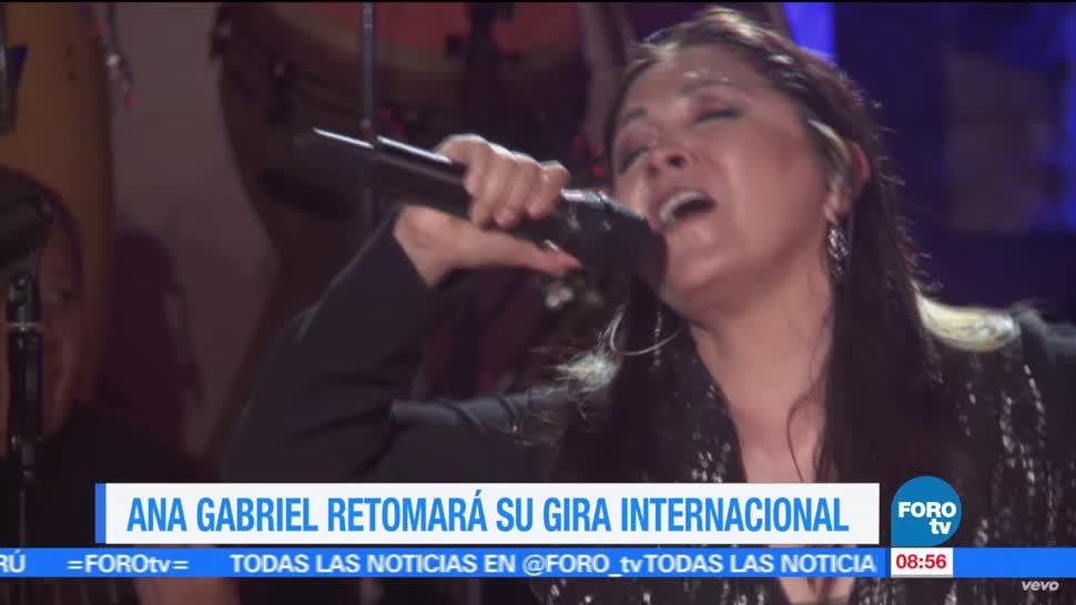 """cantante Ana Gabriel, gira """"Recopilando amor 2017"""", septiembre, conciertos, México"""