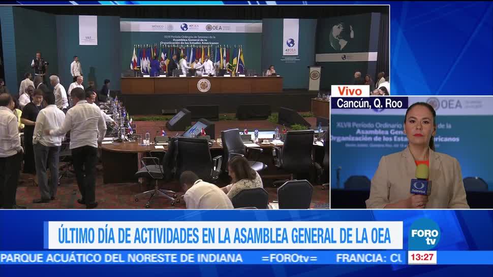 noticias, forotv, Tercer día, actividades, Asamblea General de la OEA, México