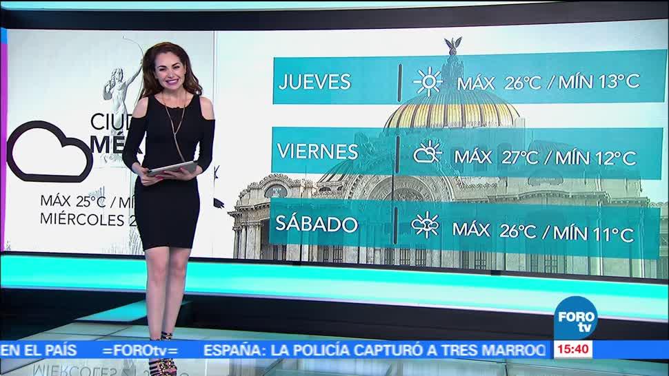 noticias, televisa, El Clima, Mayte Carranco, clima, lluvias