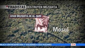 Yihadistas, destruyen, mezquita, Mosul, conflictos armados, medio oriente