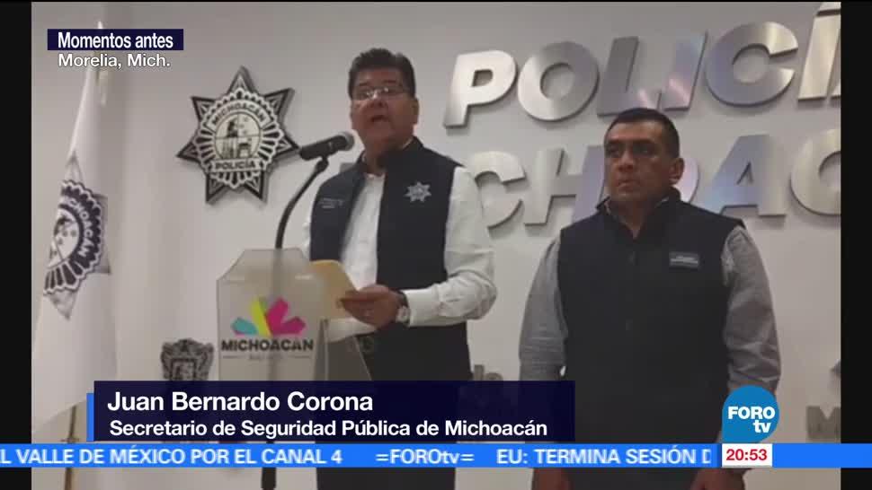 Se registra, enfrentamiento, normalistas, Michoacán, policías, normalistas