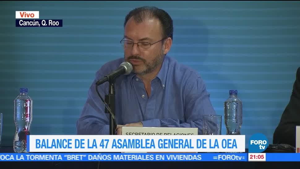 Balance, 47, Asamblea General, OEA, resumen, análisis