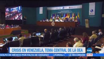 Crisis en Venezuela, tema, central, OEA, Canún, Quintana Roo