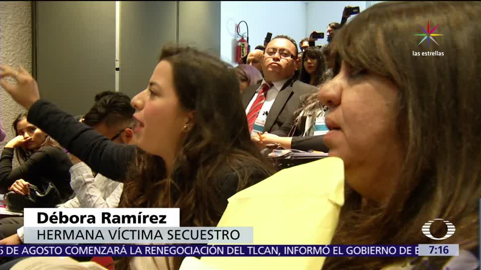 Familiares de víctimas, víctimas de secuestro, justicia, secuestros, abril